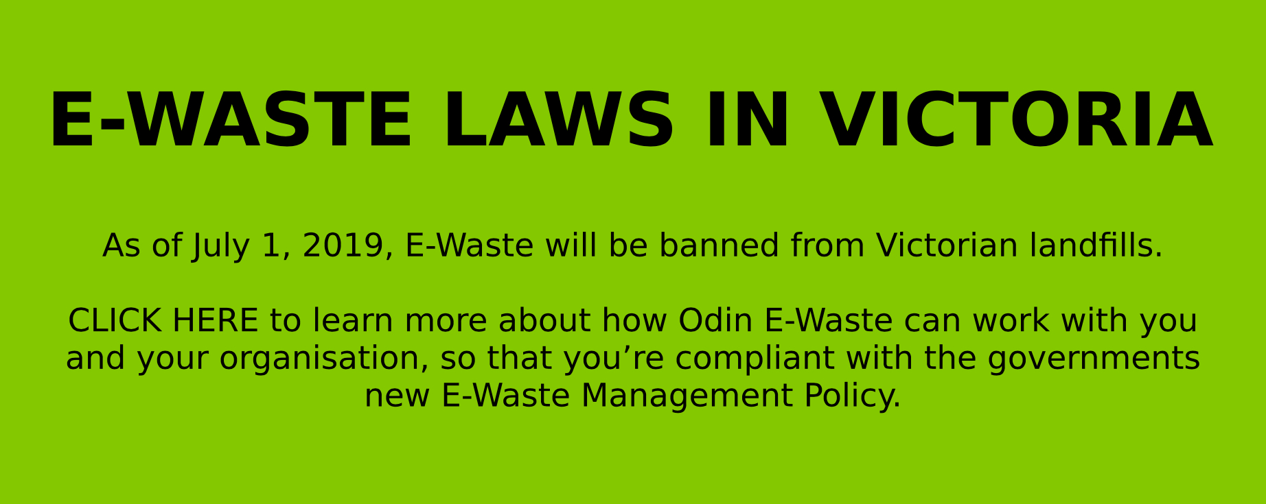 New E-Waste Law